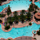Florida's Largest Lagoon Pool is located at Shores of Panama