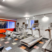 Keep up your routine with out state-of-the-art fitness center